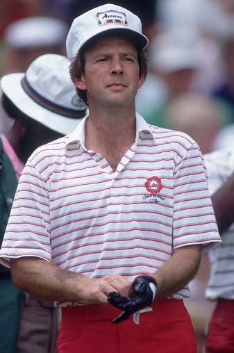 Larry Nelson at the 1983 U.S. Open, the second of his three major championships. Despite his stellar Ryder Cup record and his military service in Vietnam, Nelson has never been a Ryder Cup captain.