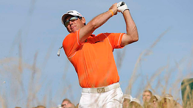 Lee Westwood shot a one-under 70 Saturday to take a two-stroke lead.
