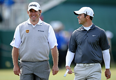 Lee Westwood, left, and Paul Casey are each chasing his first major championship.