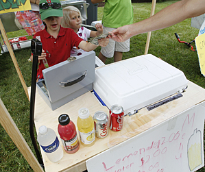 A lemonade stand, originally setup up near the main entrance at Congressional, was forced to move and fined $500. The fine was later rescinded.