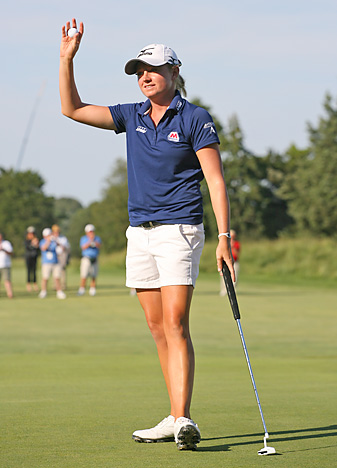 Stacy Lewis made six birdies and one bogey.
