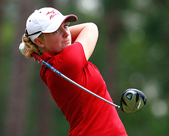 Stacy Lewis made seven birdies and two bogeys.
