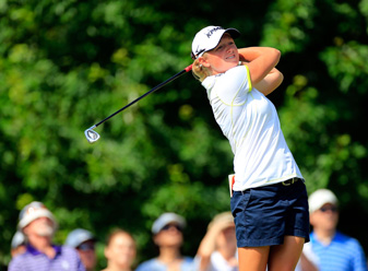 Stacy Lewis made eight birdies and two bogeys on Saturday.