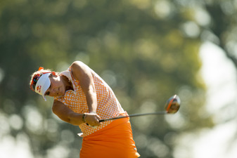 Lexi Thompson made four birdies and a bogey.