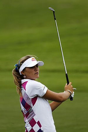 Lexi Thompson made five birdies and a bogey.