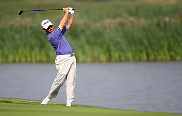 Louis Oosthuizen continued his stellar play in Stockholm on Thursday.