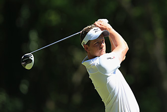 Luke Donald made four birdies and a bogey on Saturday.