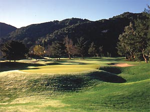 The 318-yard third hole at Carmel Valley Ranch.