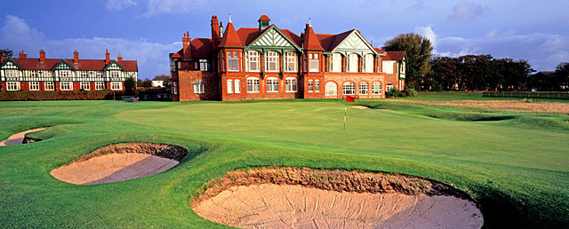 Lytham closes with six straight par 4s, including the bunker-lined 18th.
