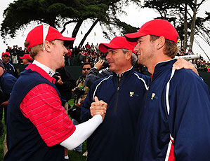 The U.S. defeated the Internationals 19 1/2 - 14 1/2.