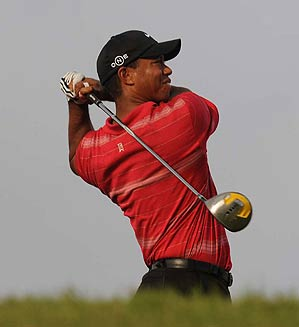 Tiger Woods finished two strokes off the lead at the CA Championship.