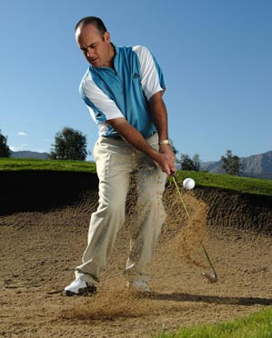 Your sand wedge's bounce can help you escape bunkers, but that bounce becomes a hindrance in the fairway.
