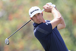 Dustin Johnson made eight birdies and one bogey on Saturday.