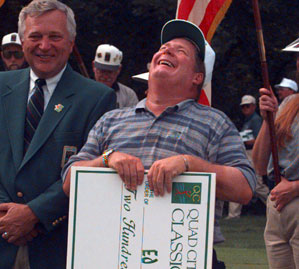 Ed Fiori denied Tiger Woods his first title at the 1996 Quad City Classic.