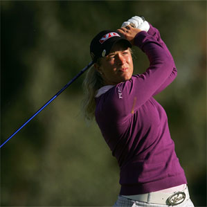 Suzann Pettersen of Norway shot an even-par 72 Thursday in the first round of the Kraft Nabisco Championship.