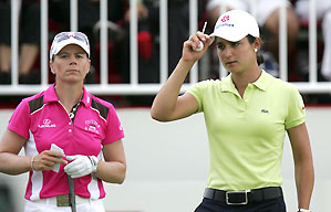 Lorena Ochoa, right, won by 11 shots. Annika Sorenstam finished second.
