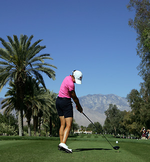 Lorena Ochoa overcame two bogeys and a double bogey to shoot 71 Friday.
