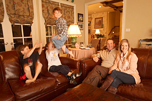 I cherish the time I spend at home with (from left) Ford, Harrison, Slayden and Allison.