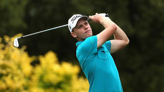 Morten Orum Madsen of Denmark in action during the final round of the South African Open Championship at Glendower Golf Club Sunday in Johannesburg.