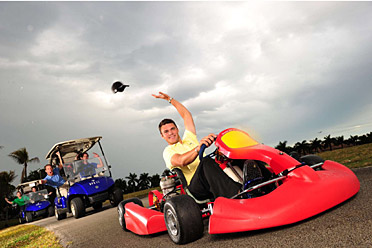 A go-kart enthusiast, Kaymer missed two months last fall after breaking his foot in a crash, yet still finished third on the European money list.