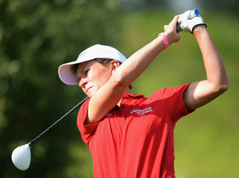 Catriona Matthew made five birdies and an eagle on Friday.