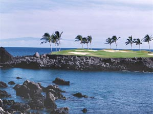 The commanding 15th on Mauna Lani's South Course