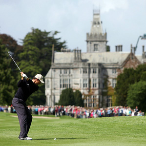 Padraig Harrington is trying to become the first Irishman to win the Irish Open since John O'Leary in 1982