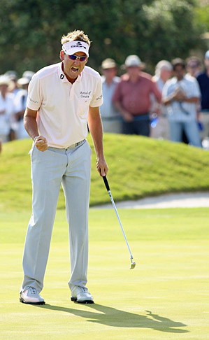 Ian Poulter defeated Luke Donald 2 and 1 to win the 2011 Volvo World Match Play.