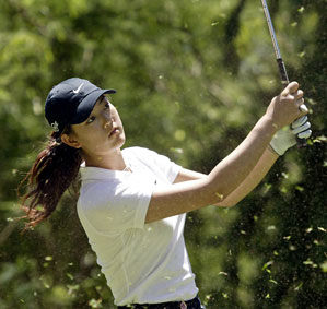 Michelle Wie at the 2006 US Open Championship local qualifier at Turtle Bay Resort.