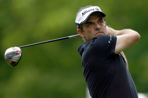 Paul McGinley made six birdies, two bogeys and an eagle on Friday.