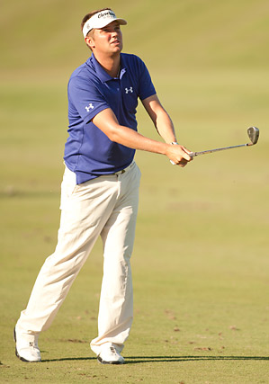 Jeff Overton passed a large group of players at four under to take the first-round lead.