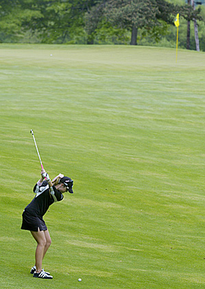 Paula Creamer on the 17th hole during the third round of the LPGA Corning Classic.