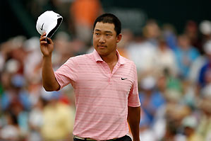 Anthony Kim made six birdies and no bogeys to grab a four-shot lead as he seeks his first Tour title.