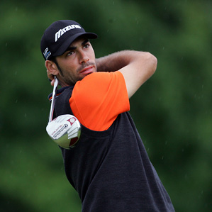 Alvaro Quiros eagled the par-5 first hole.