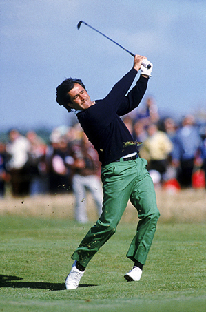 Seve Ballesteros at the British Open in 1988.