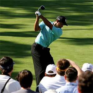 Tiger Woods didn't hit the ball well at Wachovia, but unlike the Masters, he putted well enough to get himself out of trouble.