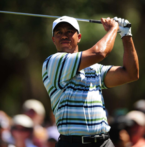 Tiger Woods made five birdies and three bogeys on Saturday.