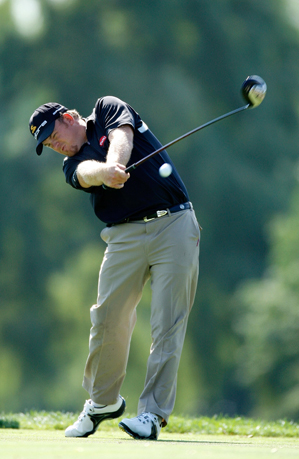 """Holmes averaged 310 yards off the tee in 2008, third-best on Tour. His mom calls him """"country strong."""""""
