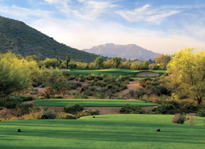 """The par-3 7th on the Lower Course, where 6 ain't bad in the """"B of A."""""""