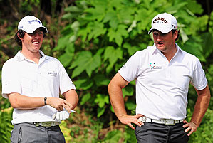 Rory McIlroy and Graeme McDowell shot a better-ball 58.