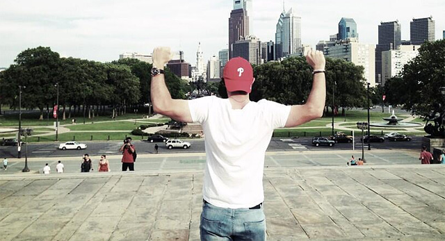 Rory McIlroy tweeted this picture after climbing the steps ala Rocky at the Philadelphia Museum of Art.