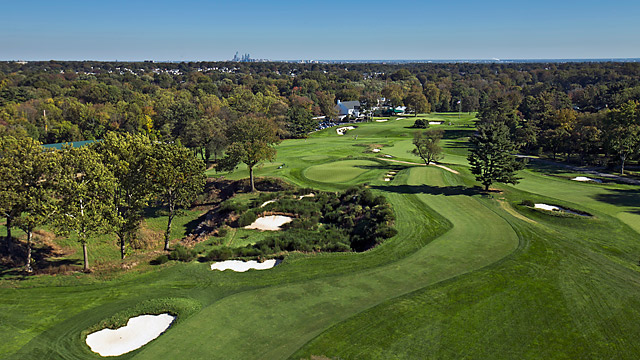 The 16th hole at Merion's East Course, site of this year's U.S. Open.