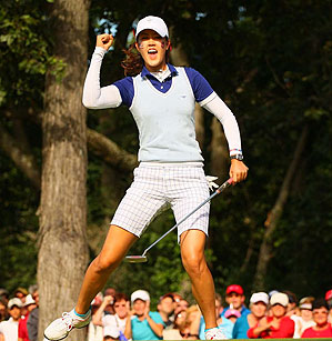 """""""This is the most fun I've ever had playing golf,"""" Wie said."""