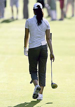 Michelle Wie shot a one-over 143 Monday in trying to earn one of 18 qualifying spots for the U.S. Open.