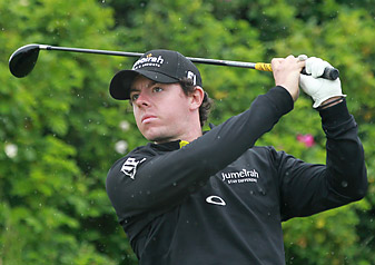 Rory McIlroy shot a three-under 69 on Friday.