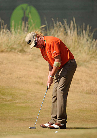 Jimenez is alone in first place after a second-round 71.
