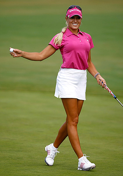 Gulbis at the 2009 Safeway Classic. She's won once as a professional.