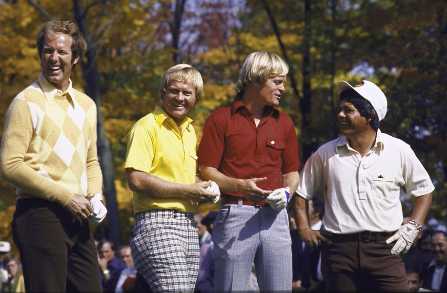 Yesterday's greats such as (from left) Tom Weiskopf, Nicklaus, Miller and Trevino would excel on today's Tour as well.