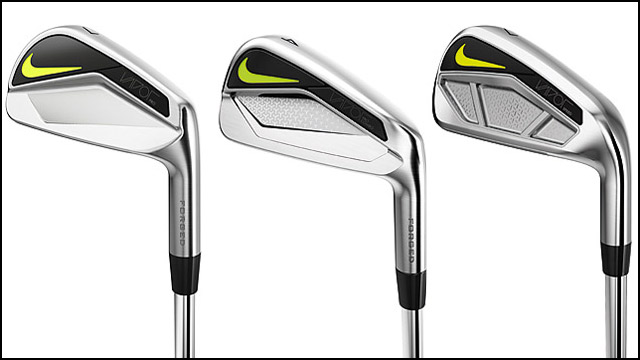 From left: Nike Vapor Pro Irons, Nike Vapor Pro Combo Irons, Nike Vapor Speed Irons.