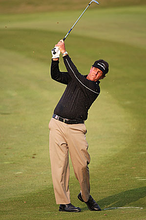 Phil Mickelson is playing his first tournament in China.